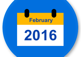 February 2016 Calendar Element 455x450